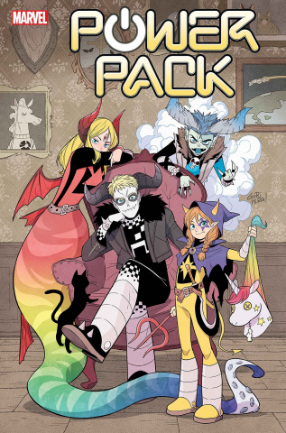 Power Pack #2 (Gurihiru Dark Marvel Cover)
