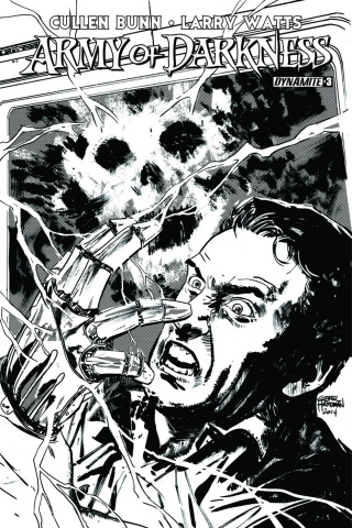 Army of Darkness #3 (10 Copy Hardman B&W Cover)