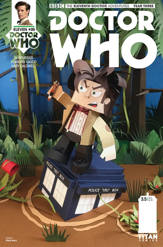 Doctor Who: New Adventures with the Eleventh Doctor, Year Three #5 (Papercraft Cover)