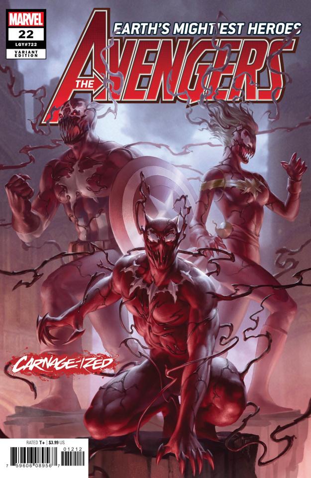 Avengers #22 (Junggeun Yoon Carnage-ized Cover)