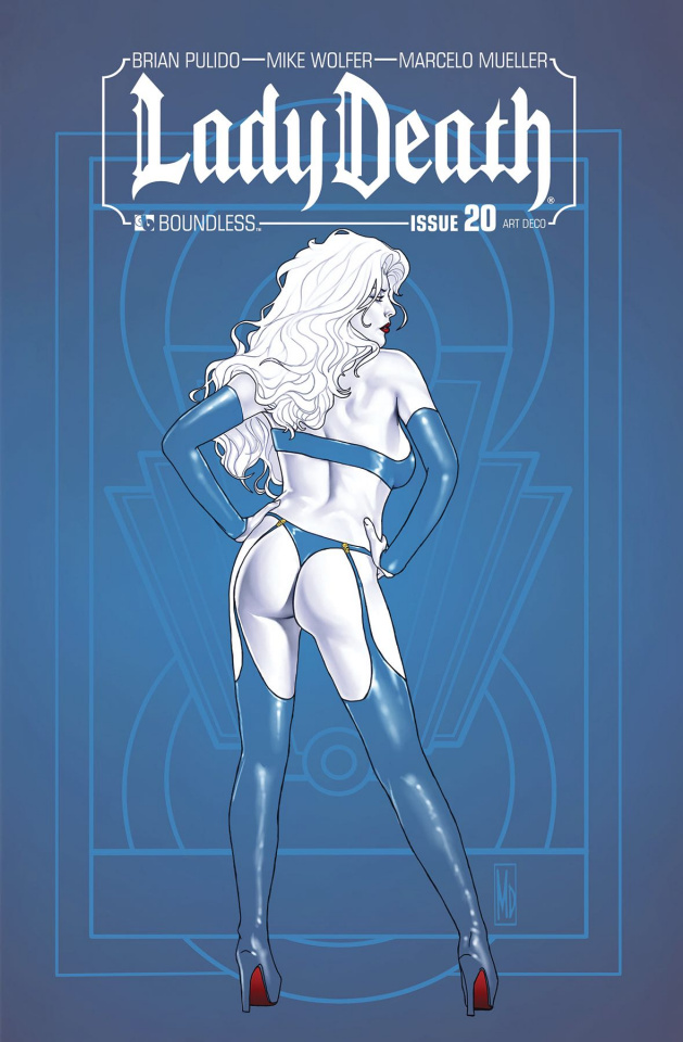 Lady Death #20 (Art Deco Variant Cover)