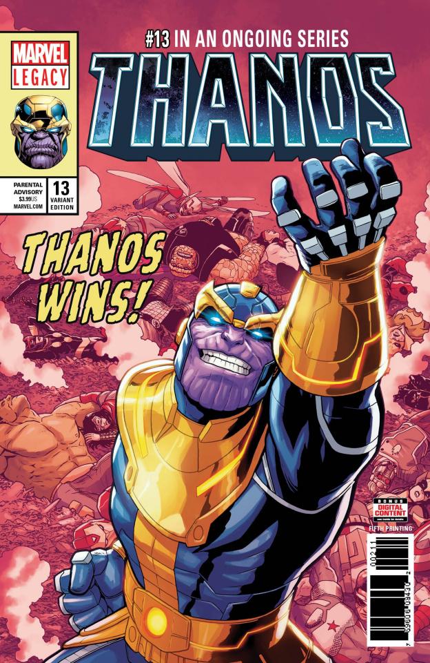 Thanos #13 (Shaw 5th Printing)