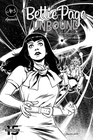 Bettie Page: Unbound #5 (40 Copy Ohta B&W Cover)