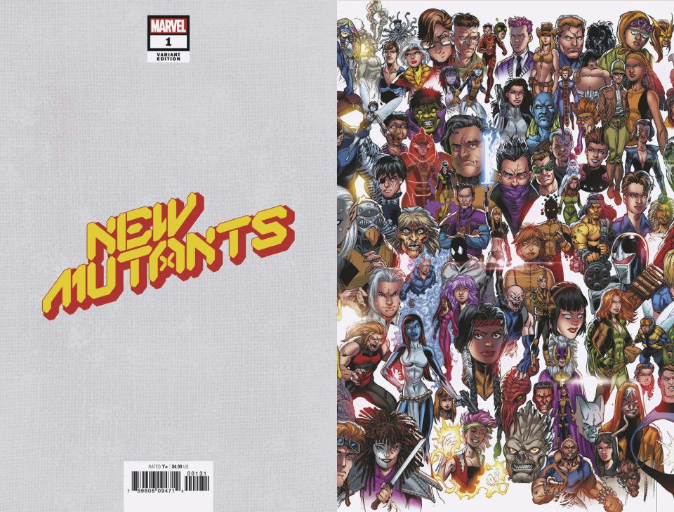 New Mutants #1 (Bagley Every Mutant Ever Cover)