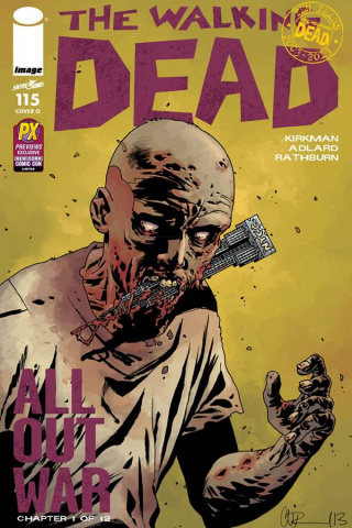 The Walking Dead #115 (NYCC Signed Gaudiano Cover)