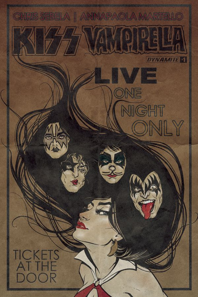 KISS / Vampirella #1 (Idhe Cover)