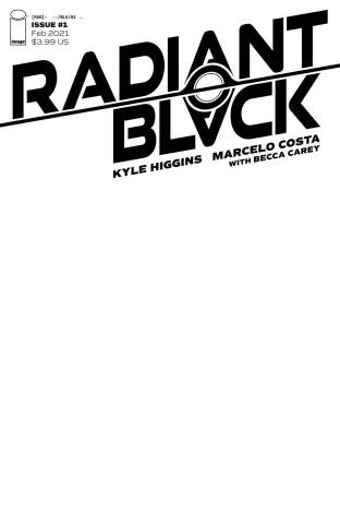 Radiant Black #1 (Blank Cover)