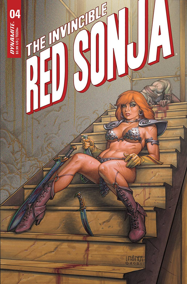 The Invincible Red Sonja #4 (Linsner Cover)
