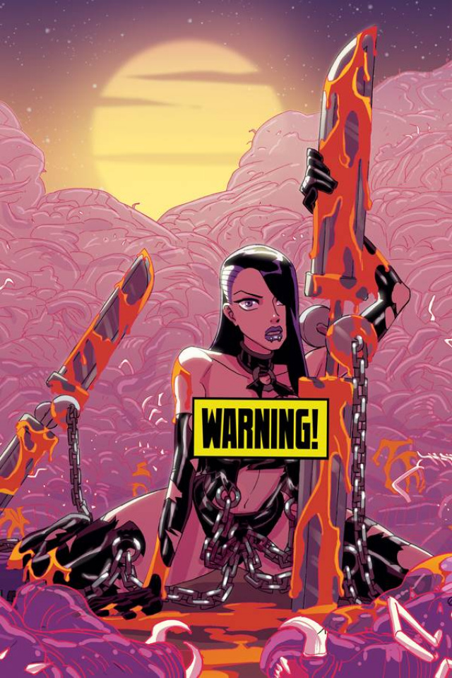 Vampblade #50 (Winston Young Virgin Risque Cover)