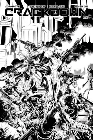 Crackdown #4 (10 Copy Jaime B&W Cover)