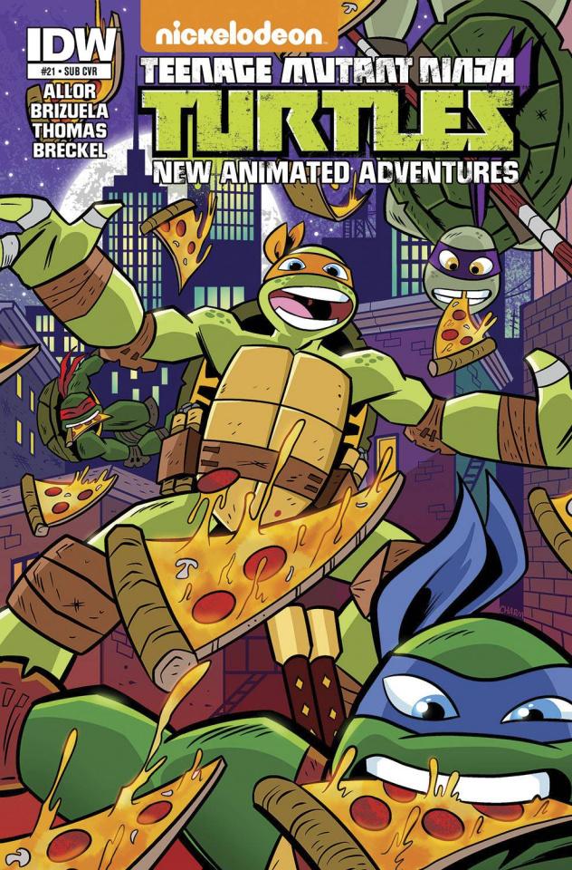 Teenage Mutant Ninja Turtles: New Animated Adventures #21 (Subscription Cover)