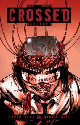 Crossed: Badlands #74 (Red Crossed Cover)