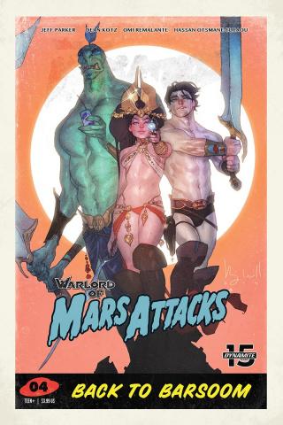 Warlord of Mars Attacks #4 (Caldwell Cover)