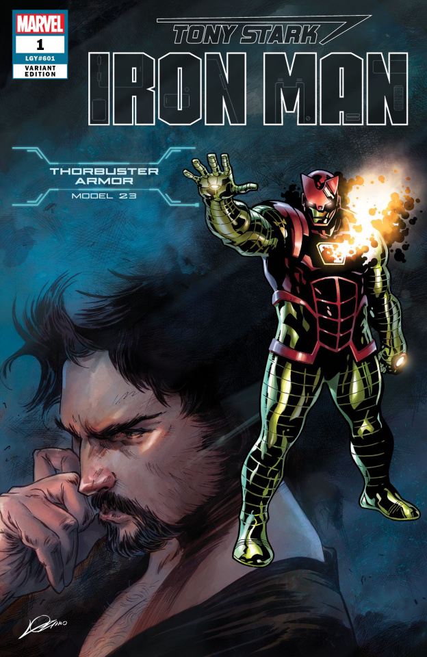 Tony Stark: Iron Man #1 (Thorbuster Armor Cover)