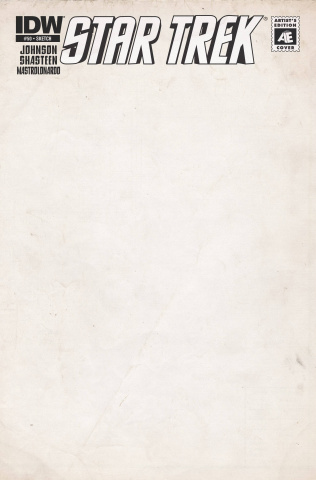 Star Trek #50 (Artist Edition Blank Sketch Cover)