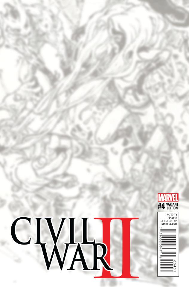 Civil War II #4 (B&W Virgin Connecting Cover)