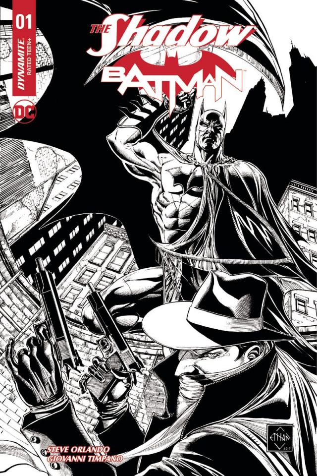 The Shadow / Batman #1 (75 Copy Van Sciver Cover)