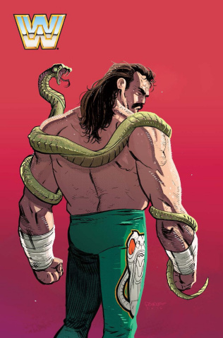 WWE #6 (30 Copy Burnett Jake the Snake Cover)