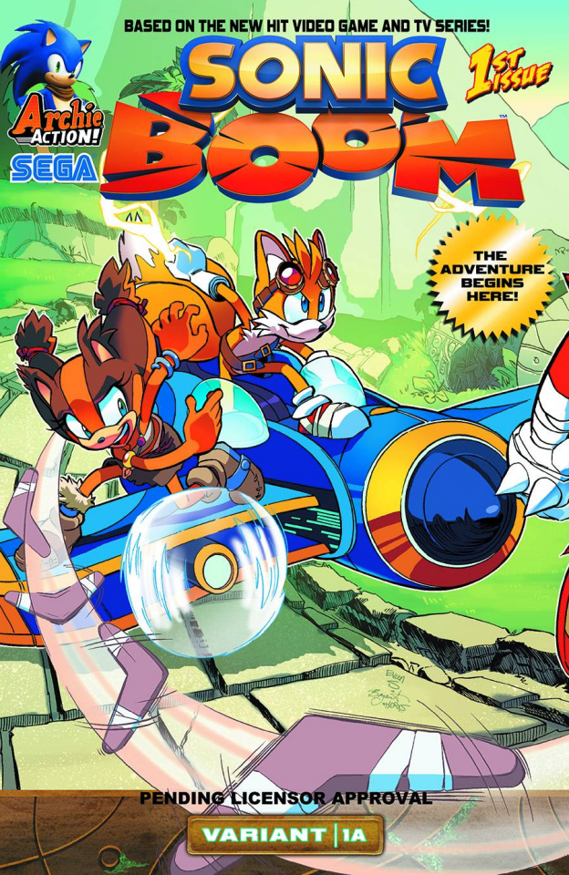 Sonic Boom #1: Here Comes the Boom, Part 1 (Variant Cover)