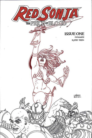 Red Sonja: The Price of Blood #1 (30 Copy Linsner B&W Cover)