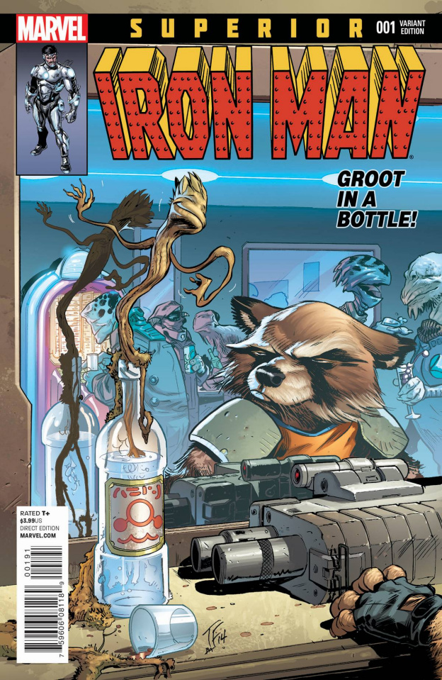 Superior Iron Man #1 (Rocket Raccoon & Groot Cover)