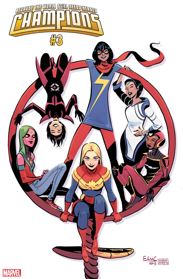 Champions #3 (Charretier International Women's Day Cover)