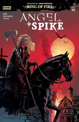 Angel & Spike #10 (Melkinov Cover)
