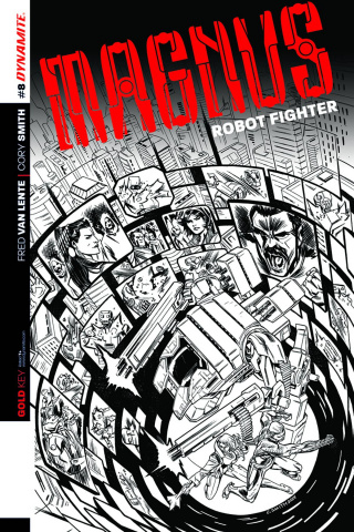 Magnus, Robot Fighter #8 (25 Copy Smith B&W Cover)
