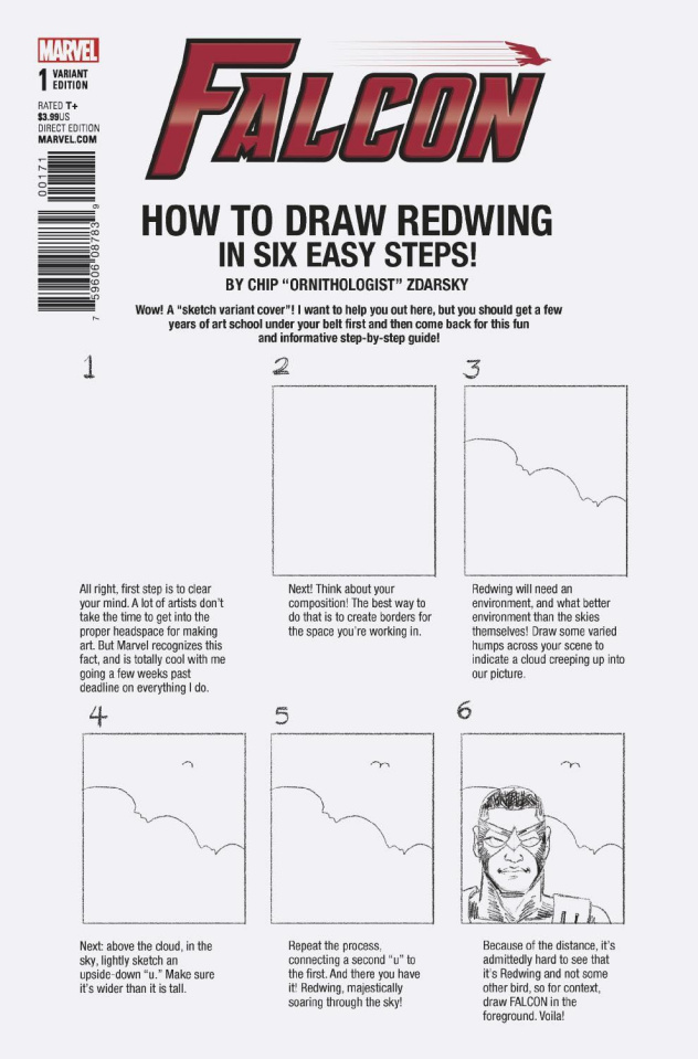 The Falcon #1 (Zdarsky How To Draw Cover)