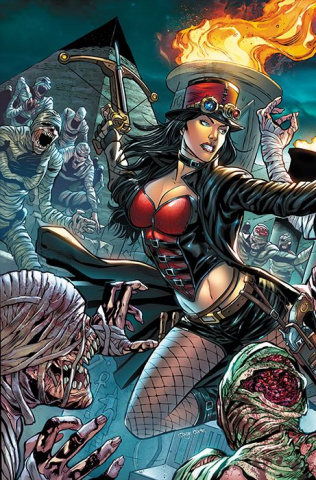Grimm Fairy Tales: Van Helsing vs. The Mummy of Amun Ra #6 (Lima Cover)