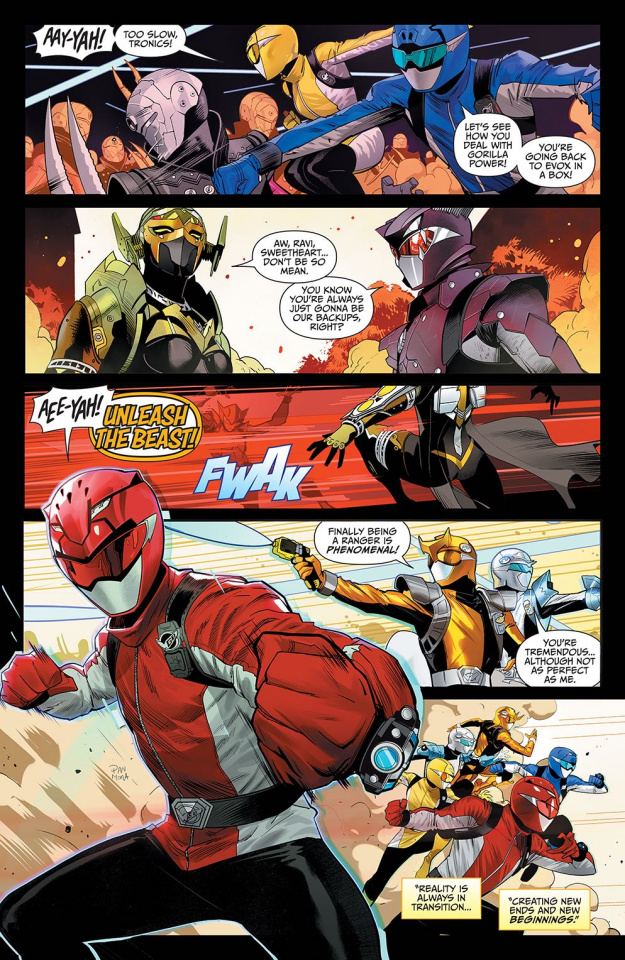 Mighty Morphin' Power Rangers #48 (Campbell Cover)