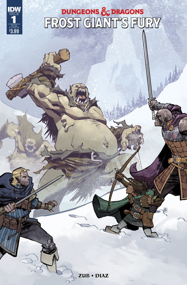 Dungeons & Dragons: Frost Giant's Fury #1 (Subscription Cover)