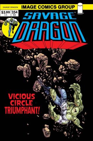 Savage Dragon #254 (Retro '70s Trade Dress Cover)