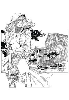 Grimm Tales of Terror #1 (B&W Ortiz Cover)