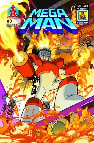 Mega Man #3 (Villian Cover)
