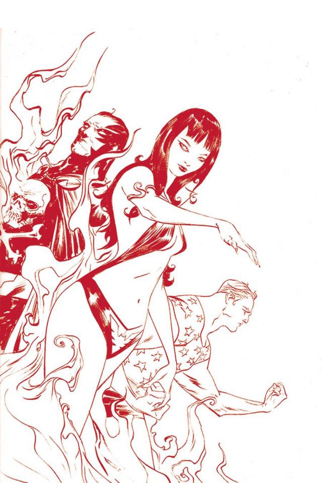 Vampirella: The Dark Powers #2 (Lee Crimson Red Line Art Virgin Cover)
