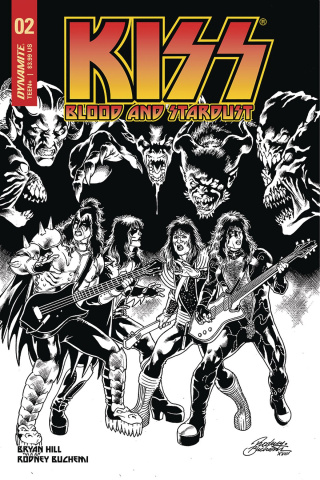 KISS: Blood and Stardust #2 (10 Copy Buchemi B&W Cover)