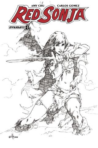 Red Sonja #2 (30 Copy Rubi B&W Cover)