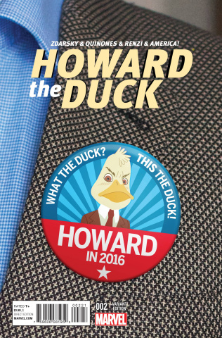 Howard the Duck #2 (Vote Howard Cover)