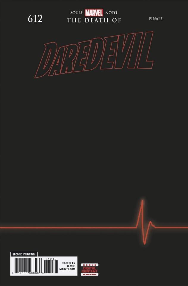 Daredevil #612 (Noto 2nd Printing)