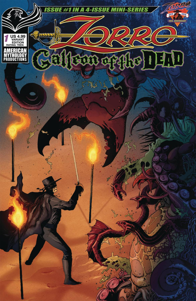 Zorro: Galleon of the Dead #1 (Wolfer Cover)