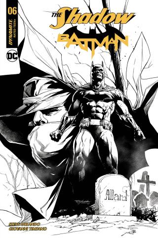 The Shadow / Batman #6 (50 Copy Segovia B&W Cover)