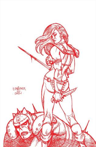 Red Sonja #27 (Premium Linsner Tint Virgin Cover)