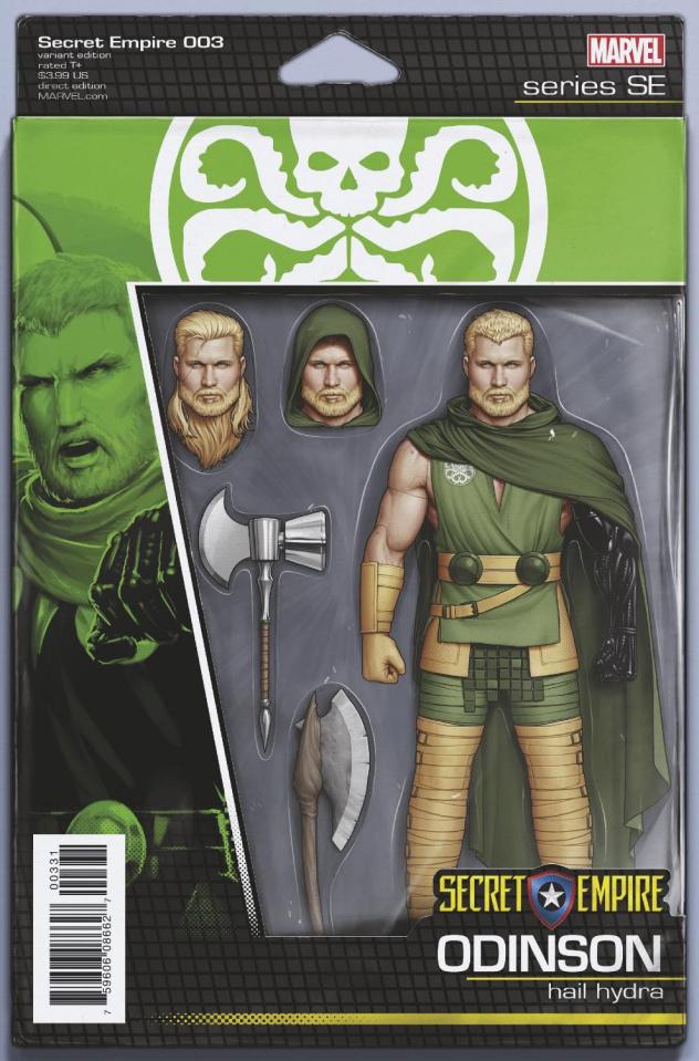 Secret Empire #3 (Christopher Action Figure Cover)