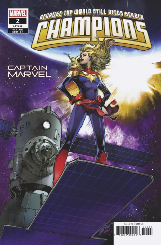 Champions #2 (Larraz Captain Marvel Cover)