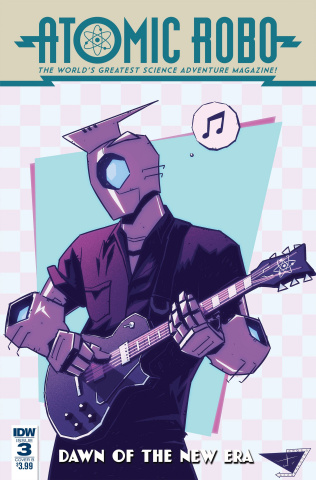 Atomic Robo: Dawn of the New Era #3 (Burcham Cover)