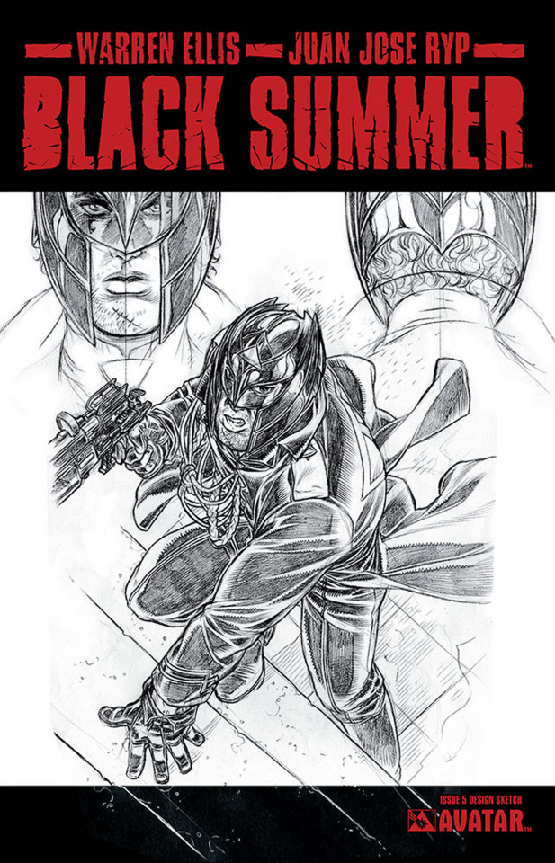 Black Summer #5 (Design Sketch Cover)