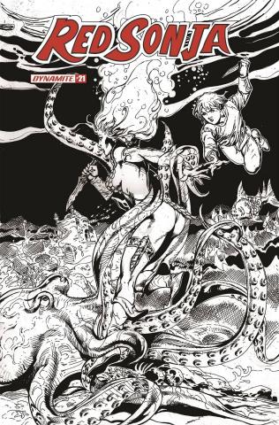Red Sonja #21 (11 Copy Castro B&W Cover)