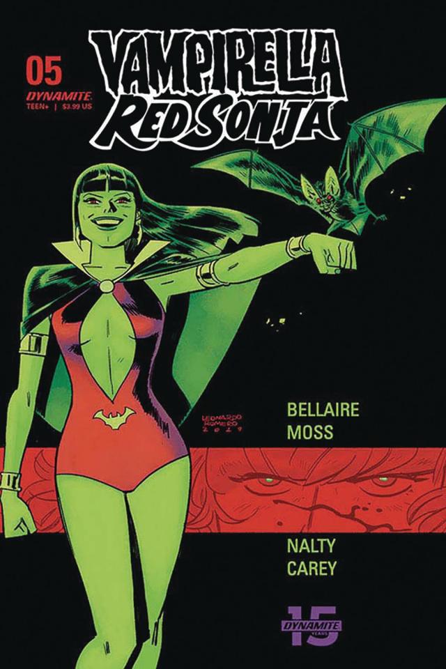 Vampirella / Red Sonja #5 (Romero & Bellaire Cover)