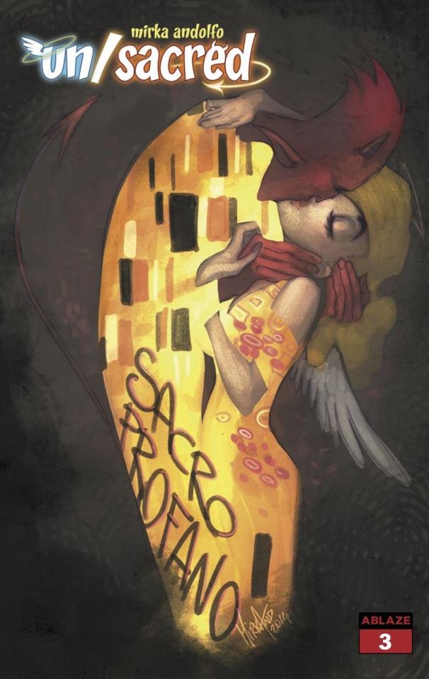 Un/Sacred #3 (Andolfo Klimt Homage Cover)